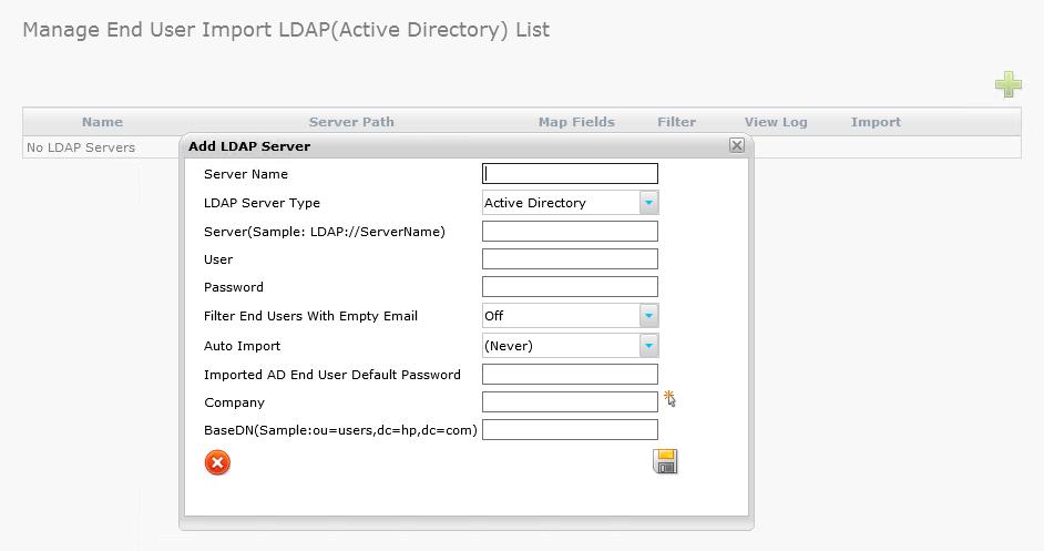 Layton ServiceDesk - Utilities - LDAP Import End User
